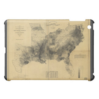 Slavery Population Map Southern States Civil War Case For The iPad Mini