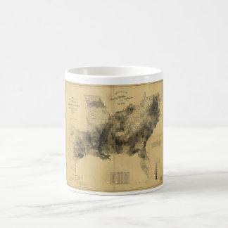 Slavery Population Map Southern States Civil War Classic White Coffee Mug