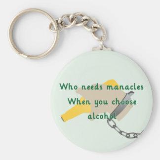 Slavery to Alcohol Basic Round Button Keychain