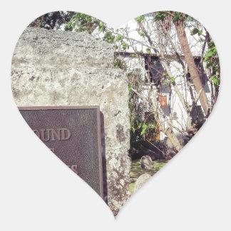 Slaves Burial Ground Heart Sticker