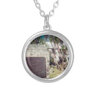 Slaves Burial Ground Silver Plated Necklace