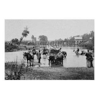 Slaves Fording the Rappahannock, 1862 Poster