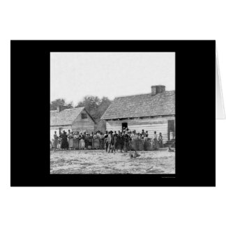 Slaves on Smith's Plantation in Beaufort, SC 1862 Card