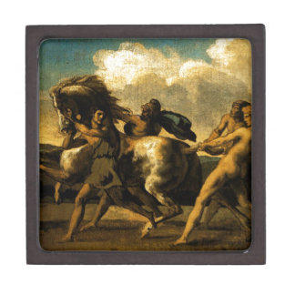Slaves stopping a horse, study for The Race Gift Box