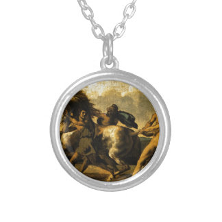Slaves stopping a horse, study for The Race Round Pendant Necklace