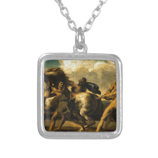 Slaves stopping a horse, study for The Race Square Pendant Necklace