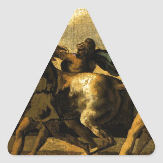 Slaves stopping a horse, study for The Race Triangle Sticker