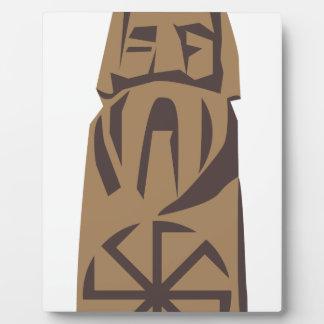 Slavic Pagan Warrior Plaque