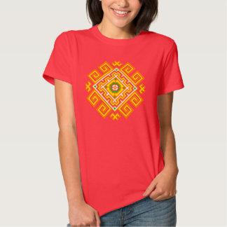 Slavic solar rhombus tee shirt