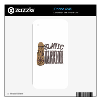 Slavic Warrior Decal For iPhone 4