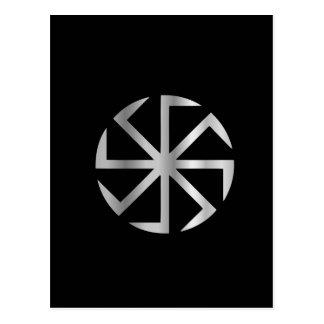 Slavik religion- The Kolovrat symbol Postcard