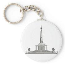 Slavin memorial Bratislava World landmarks Keychain