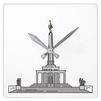 Slavin memorial Bratislava World landmarks Square Wall Clock
