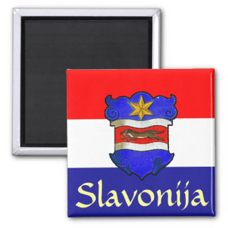Slavonia Coat of Arms 2 Inch Square Magnet