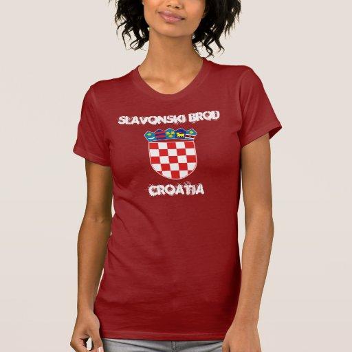 Slavonski Brod Croatia  city images : Slavonski Brod, Croatia with coat of arms T Shirt | Zazzle
