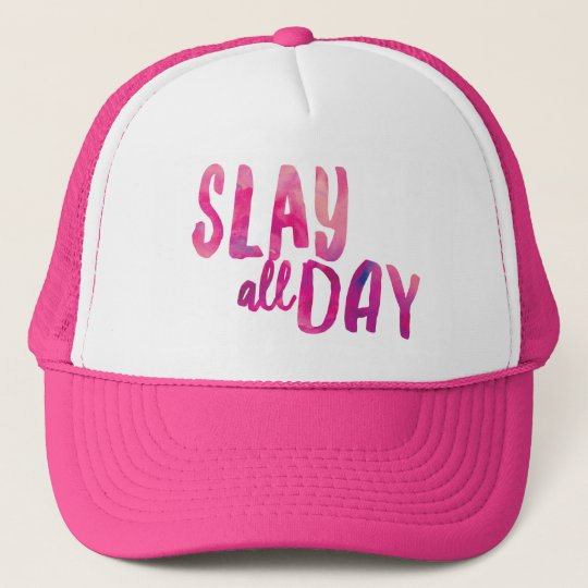 Slay All Day Trucker Hat  c3bfaccf200