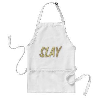 Slay - Golden Typography Adult Apron