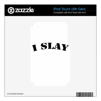 slay iPod touch 4G decals