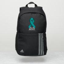 Slay The Beast Ovarian Cancer Awareness Adidas Backpack