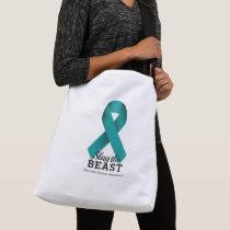 Slay The Beast Ovarian Cancer Awareness Crossbody Bag