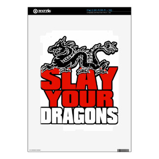 Slay your dragons, Gift for Jordan B Peterson fan Skin For The iPad 2