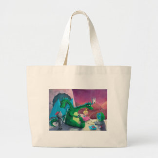 Slaying the dragon It s hard Canvas Bags