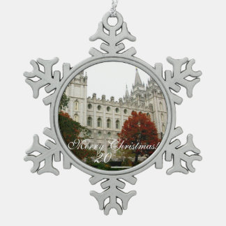 SLC Temple Pewter Christmas Ornament