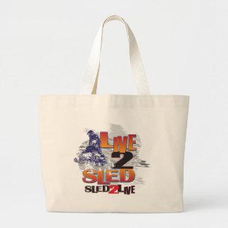 Sled 2 Live Live 2 Sled Large Tote Bag