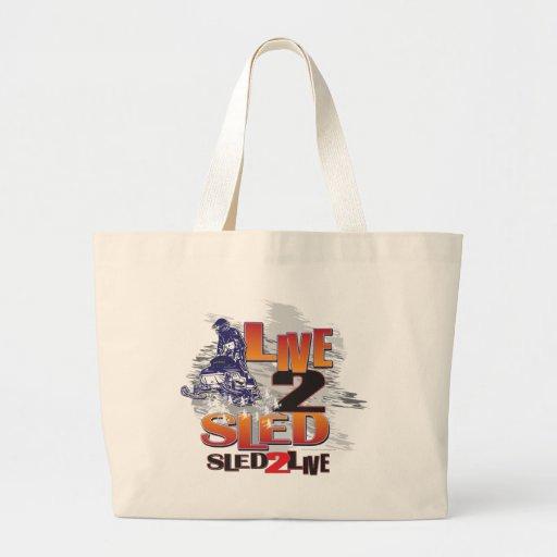 Sled 2 Live Live 2 Sled Tote Bag