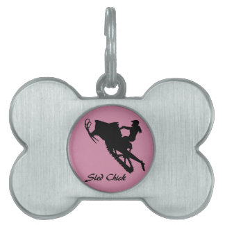 Sled Chick Pet ID Tag