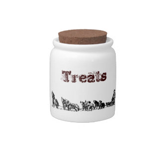 Sled Dog Candy Jar