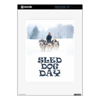 Sled Dog Day - Appreciation Day Decals For iPad