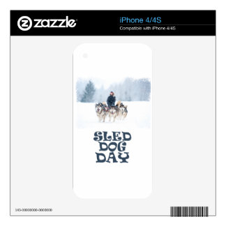 Sled Dog Day - Appreciation Day Skin For The iPhone 4S