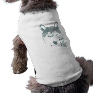 sled dog day shirt