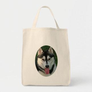 Sled Dog Environmental Tote Bag