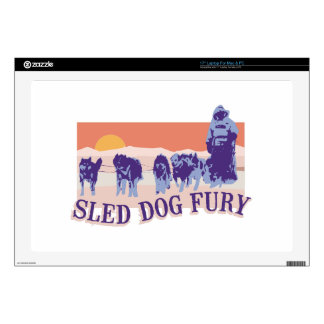 Sled Dog Fury Laptop Decal