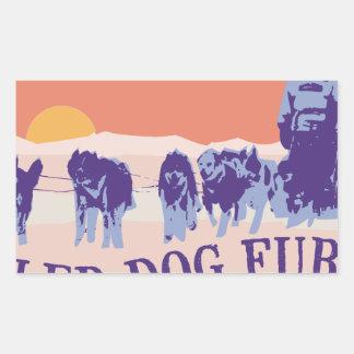 Sled Dog Fury Rectangular Sticker