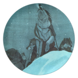 Sled Dog Party Plates