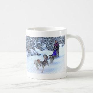 Sled Dog Racing Coffee Mugs