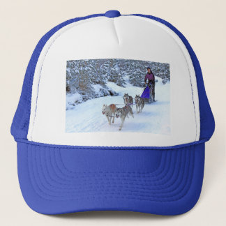 Sled Dog Racing Trucker Hat