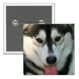 Sled Dog Square Pin