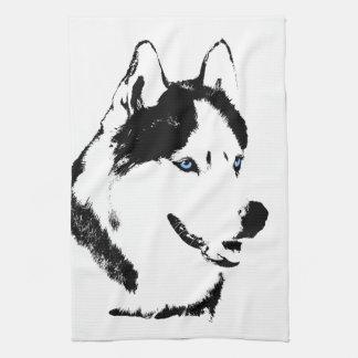 Sled Dog Towel Husky Malamute Tea Towel