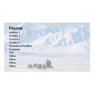 Sled dog travel, Baffin Island Business Card Template