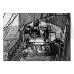 Sled Dogs at Sea Greeting Card