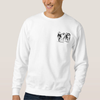 Sled dogs playing sweatshirt