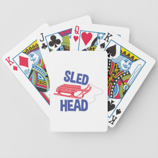 Sled Head Bicycle Playing Cards