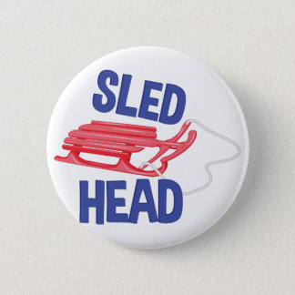 Sled Head Pinback Button