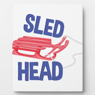 Sled Head Plaque