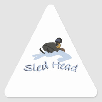 Sled Head Triangle Sticker