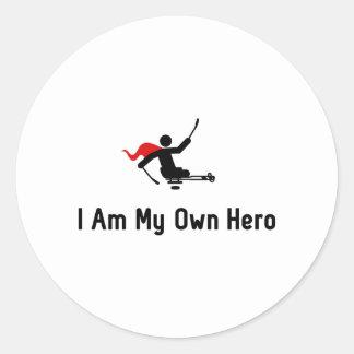 Sled Hockey Hero Classic Round Sticker